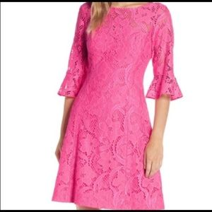 Lilly Pulitzer Allyson dress pink Tropics lace